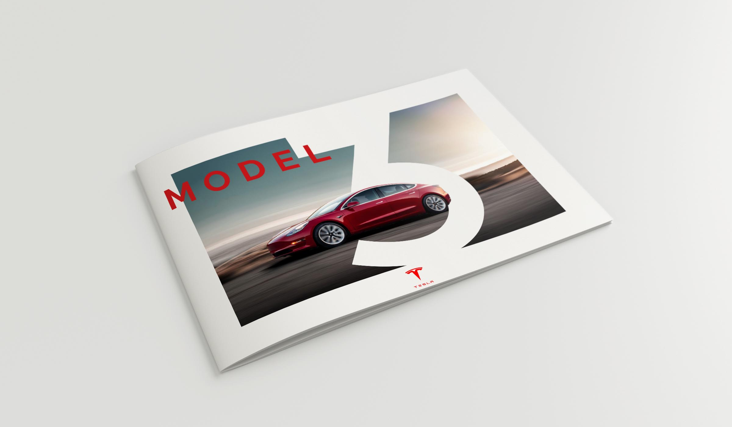 Mockups Tesla model 3